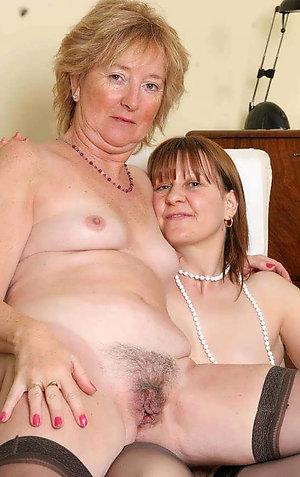 Sexy amateur hairy mature lesbians