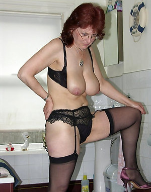 Beautiful natural lovely mature lady lingerie