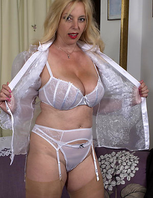 Lovely mature amateur wife lingerie