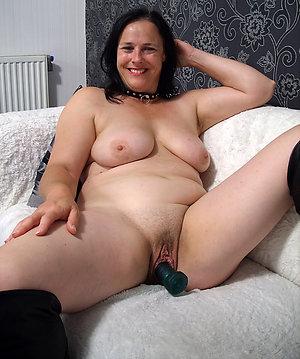 Gorgeous horny mature wife masturbating