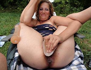 Horny mature amateur masturbation pics