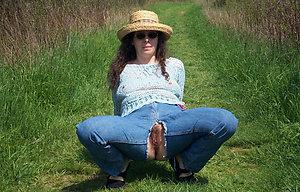 Slutty mature women on the nature