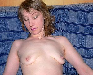 Amazing skinny mature saggy tits