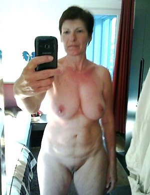 Mature naked self shot woman