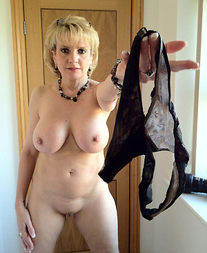 Nude old women wearing sexy panties