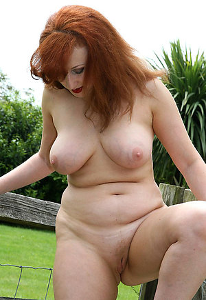 Lovely amateur mature redhead women