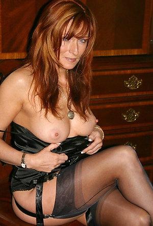 Amazing amateur mature redhead tits