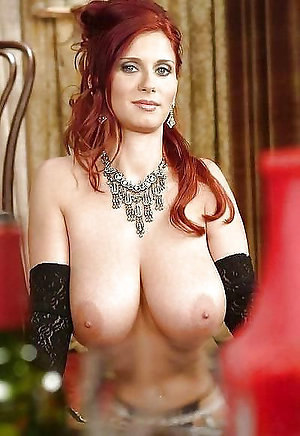 Luxurious nude old redhead women