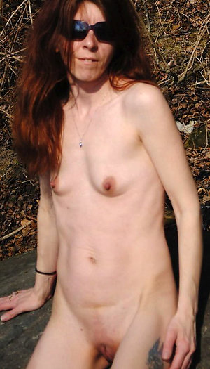 Wonderful skinny naked mature women