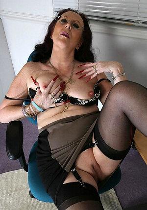 Public mature woman upskirt