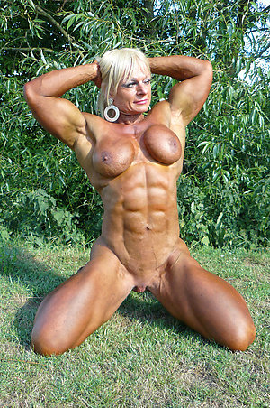 Fantastic muscle women naked