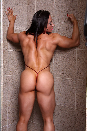 Handsome sexy women with muscles