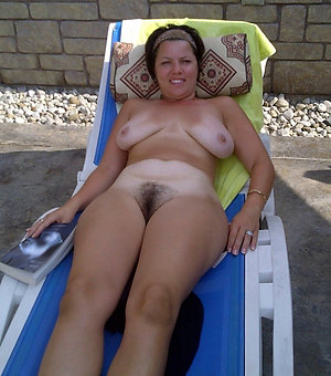 Handsome naturally hairy women