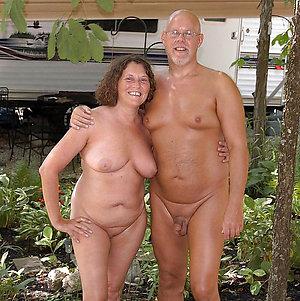 Naked mature couple multitude love