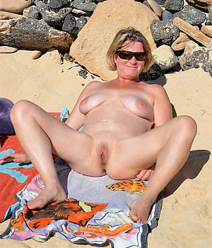 Inexperienced mature naked beach