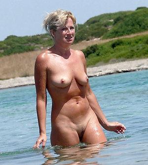 Gorgeous mature beach nudists pics