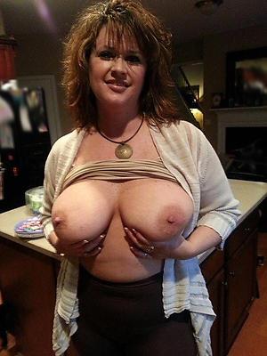 Busty mature bungling housewife