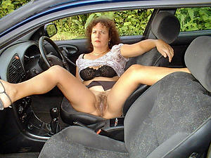 Sexy hot mature car porn