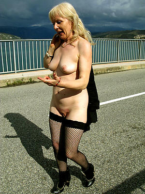 In one's birthday suit mature blonde pic