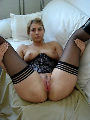 Slutty sexy column in stockings