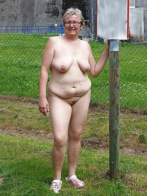 Dispirited nude grandmothers
