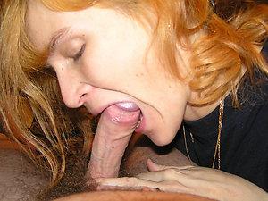 Nude older mom gives blowjob
