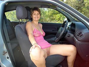 Unfurnished mature take car pics