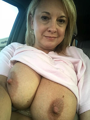 Hot busty milf mature nude the driver's seat quickly