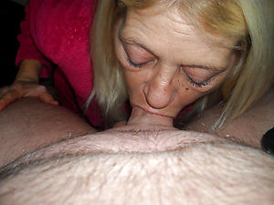 Mature lady blowjob