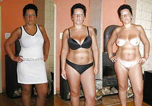 Untrained pics of mature before and after
