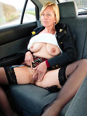 Amazing nude mature in car galleries