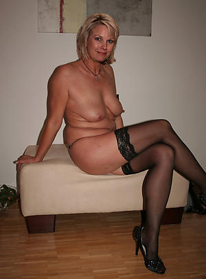 Slutty of age milf take heels naked photos