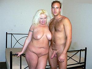 Beautiful natural homemade mature couple