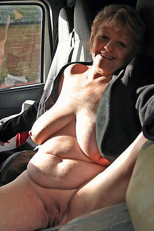 In one's birthday suit mature women back car pics
