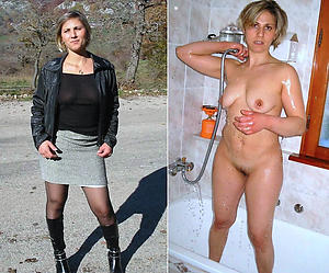 Hot porn of matures dressed plus undressed