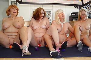 Slutty mature group sex photo