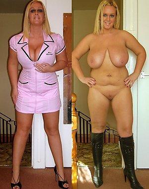 Pretty women dressed & undressed pics