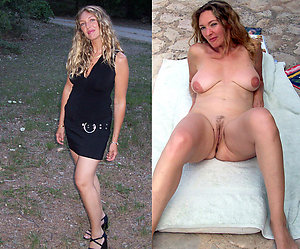 Pretty mature dressed and undressed photos