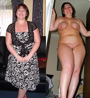 Amateur dressed and undressed older ladies