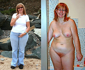 Amateur older moms dressed and undressed
