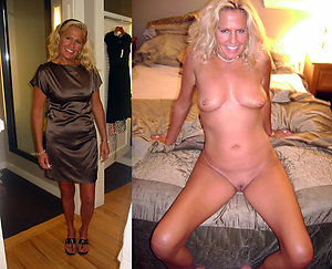 Pretty moms dressed and undressed
