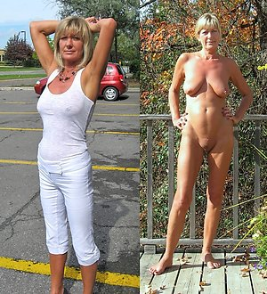 Amateur old lady dressed undressed images