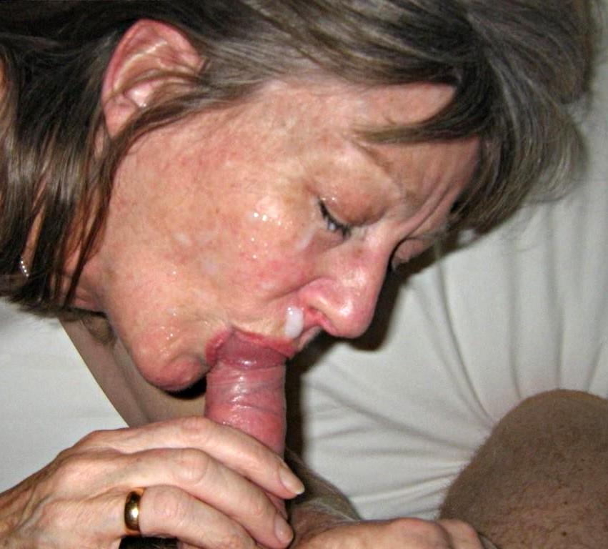 mature blowjob cum